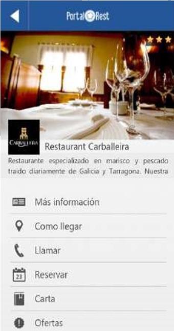 Presentación del restaurante